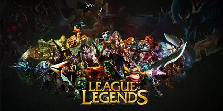 Vários personagens de jogo online league of legends